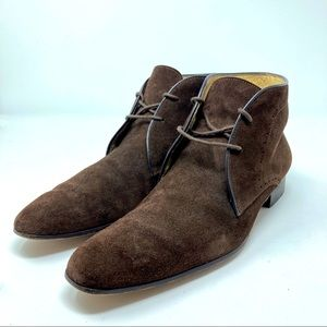Barney's Co-Op Men's Brown Suede Lace Up Boots 9